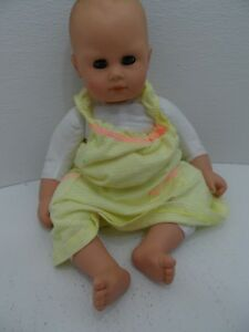 "Gotz Baby Doll. 16"" Cloth & Vinyl Drawed on Hair  Blue eyes"