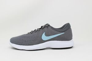 Women's Nike Revolution 4 (WIDE) Gunsmoke/Ocean Bliss-Dark Grey AH8799-004 New
