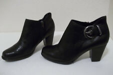 CUTE WOMENS CLARKS ARTISAN REELY MARIA BLACK LEATHER ANKLE BOOTS SZ 6 NICE!