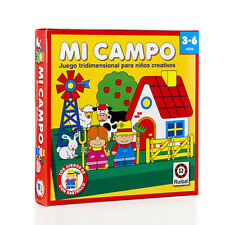 Mi Campo My Field Educational Board Game Juego Educacional Spanish Espanol