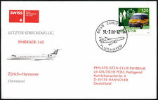 Switzerland 2006 Zurich - Hannover Germany Flight Cover #C43498