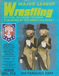 Major League Wrestling Program AWA Issue 312 1984 Fabulous Ones Wendi Richter