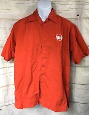 Vtg Circuit City Roadshows Sz L Short Sleeve Button Front Work Uniform Shirt
