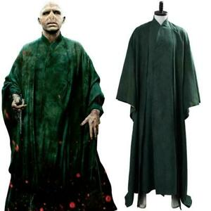 Lord Voldemort Cosplay Costume Suit Green Uniform Cloak Robe Outfit