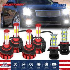 For Cadillac CTS 2003 2004 2005 2006 2007 4-Sides LED Headlight+Fog Lights Bulbs