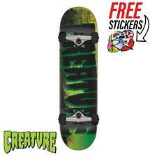 "Creature Skateboards Logo Scan Complete Skateboard 7.75"" Black/Green"