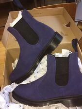 Nuevo Dr Martens 2976 Chelsea/Distribuidor Botas Blue Suede Reino Unido 7 EUR 41