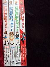 THE MELANCHOLY OF HARUHI SUZUMIYA VOLUMES 1-4 YEN PRESS MANGA LOT