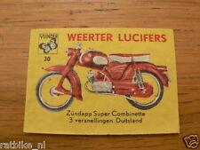 B30 WEERTER LUCIFERS,MATCHBOX LABELS ZUNDAPP SUPER COMBINETTE BROMFIETS,MOPED