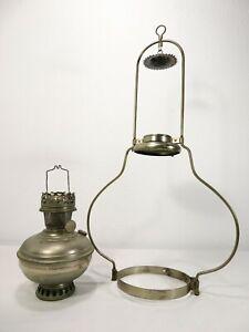 Antique ALADDIN HANGING OIL LAMP Model 6 BURNER FONT W/ BRACKET Farm Train Light