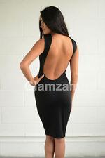 Vestiti da donna nere lunghezza al ginocchio senza maniche
