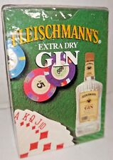 1992 Fleischmann's  Extra Dry Gin  Playing cards  Cello Sealed New  USA