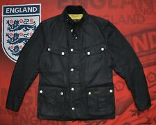 Barbour International SMU ENFIELD Size S 100% Waxed Cotton Jacket Made A Rewax