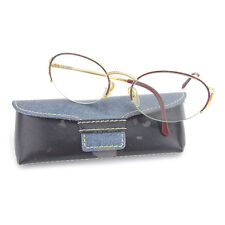 Dior Glasses clear Gold Woman Authentic Used Y4244