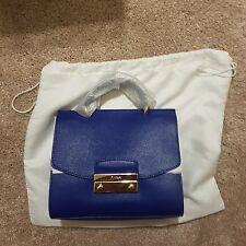 $348 NWT FURLA JULIA MINI BLUE LAGUNA SAFFIANO TOP HANDLE SATCHEL CROSSBODY BAG