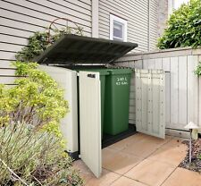 Keter Outdoor Plastic Garden Storage Shed 1200L Ideal For x2 240 L Wheelie Bins