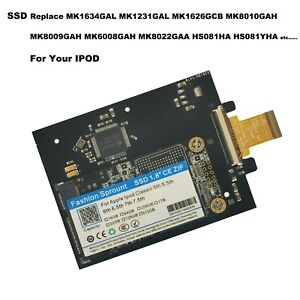 160GB SSD Replace 1.8 TOSHIBA MK1634GAL Hard Drive Disk For Ipod Classic 7th Gen