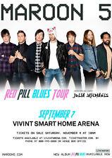 "Maroon 5 ""Red Pill Blues Tour"" 2018 Salt Lake City Concert Poster - Adam Levine"
