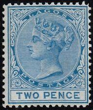 Lagos 1876-79 2d. blue, MH (SG11)