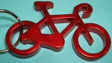 """NEW Aluminium 2"""" Long RED BIKE Bicycle Key chain bottle opener with KEY RING"""