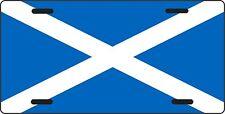 "SCOTTISH FLAG license plate ALL ALUMINUM 6"" X 12"" SCOTLAND, KILTS, BAGPIPE,"