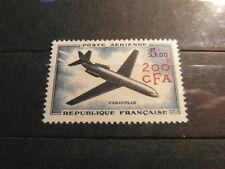TIMBRE LA REUNION POSTE AERIENNE YT 59** Surcharge 200f CFA Overprint MNH 1961