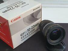 - Canon EF S 10-22 mm f/3.5-4.5 USM