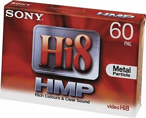 SONY P5-60HMP3 Hi8 (Digital 8) Camcorder Video Kassette Tape NEU 000-436