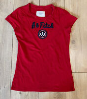 Abercrombie & Fitch Women's T Shirt Red Short Sleeve Large 100% Cotton