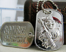 Sons of Anarchy Grim Reaper Metal Dog Tag Pendant Necklace