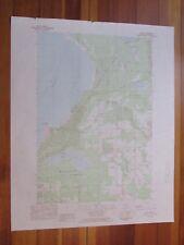 Bliss Michigan 1983 Original Vintage USGS Topo Map