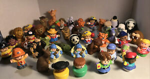 HUGE LOT OF 45 FISHER PRICE LITTLE PEOPLE AND ANIMALS FROM 1990-2011 Preowned