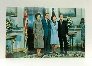 Jimmy & Rosalynn Carter Walter & Joan Mondale Inauguration 1977 Postcard