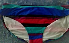 20 BLACK  MULTI COLORED   SIDE TIED BIKINI PANTS FULLY LINED TARGET NWT $15