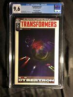 TRANSFORMERS #2 (2019) VEREGGE CYBERTRON TRAVEL POSTER VARIANT COVER CGC 9.6 NM+
