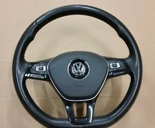 VW TRANSPORTER T5 GOLF MK7 PASSAT B7 MULTIFUNCTION LEATHER STEERING WHEEL AIRBAG