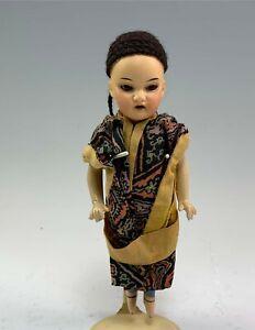 "Antique German Bisque 8"" Armand Marseille 8/0 Oriental Asian Doll"