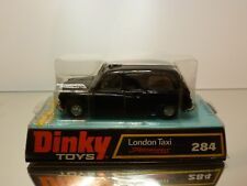 DINKY TOYS 284 SPEEDWHEELS AUSTIN LONDON TAXI - BLACK - GOOD CONDITION IN BOX