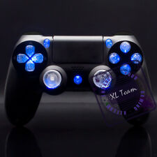 SONY DUALSHOCK 4 WIRELESS CONTROLLER - CUSTOM CLEAR BUTTONS WITH BLUE LED MOD