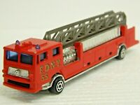 Vintage MAJORETTE # 319 FDNY Ladder Truck Red 1/86 (HO) Scale Small Chips L@@K\