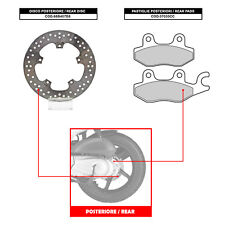 BREMBO REAR DISC (+ BRAKE PADS) - KYMCO LIKE 200 (FROM 2009) - 68B407D8