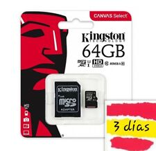 Tarjeta de memoria KINGSTON  64 GB Clase 10 Micro SDHC con adaptador