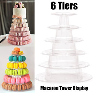 6 Tiers Round Macaron Tower Stand Cake Display Rack for Wedding Party Decor New