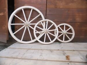 Wooden Cart Wagon Wheel 30cm 40cm 50cm 60cm 70cm 80cm  Solid Wood Best Qualit...