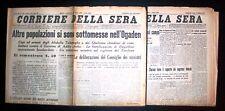 Quotidiano Corriere della Sera Fascista Lotto 2 Numeri Novembre - Dicembre 1935