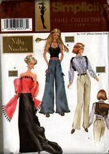 "Reduced!  Simplicity 7081 11½"" Fashion Doll Collector Club Nifty 90s Pattern"