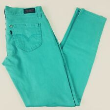 Levis 524 Too Superlow Straight Leg Teal Blue Jeans Distressed 30 x 31