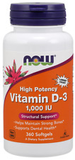 Vitamin D3 1000 IU Now Foods 360 Softgel