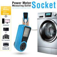 LCD Digital Power Energy Meter Volt Voltage Wattmeter Analyzer Outlet Socket H