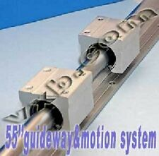 "20mm 55"" Rail Guideway System w/2 Slide Units Linear Motion 7429"